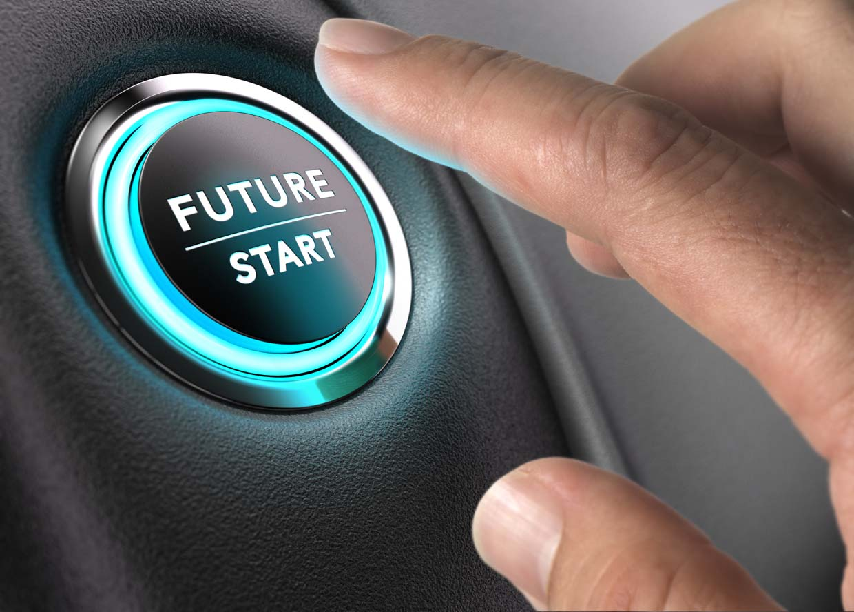 image of vehicle start button