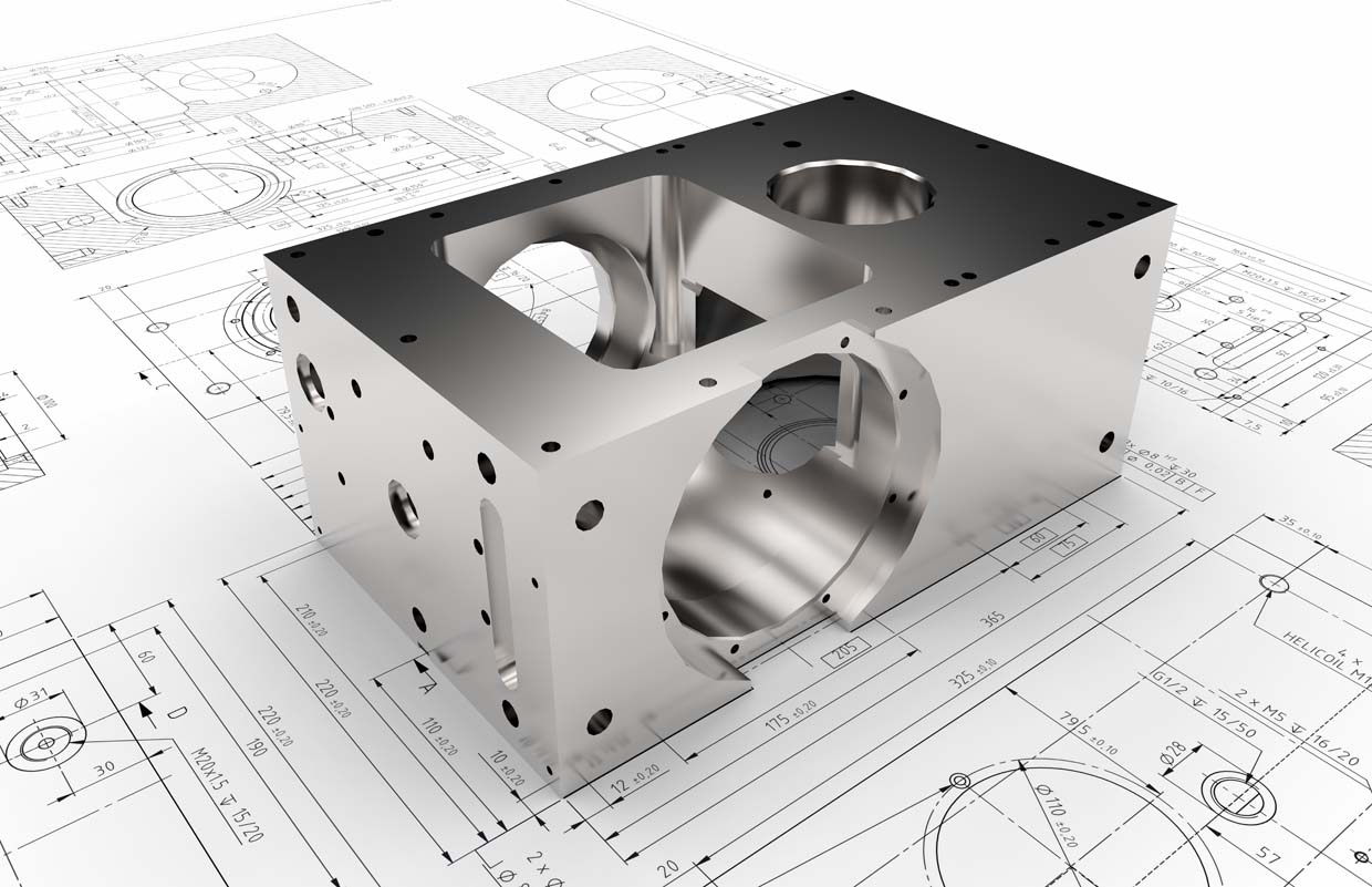 image of cad design and object it represents
