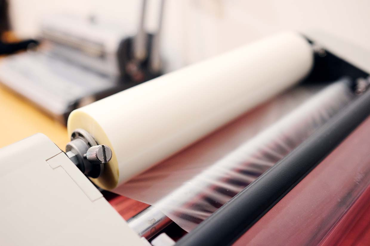 image showing a lamination job